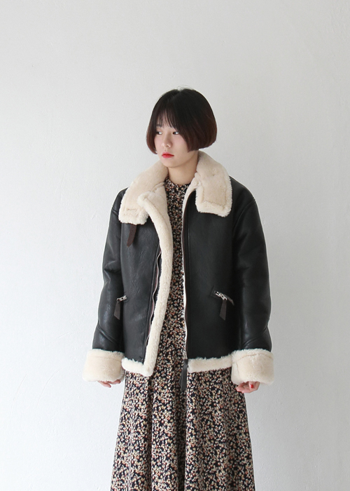 Real Sheep Fur Bomber Jacket