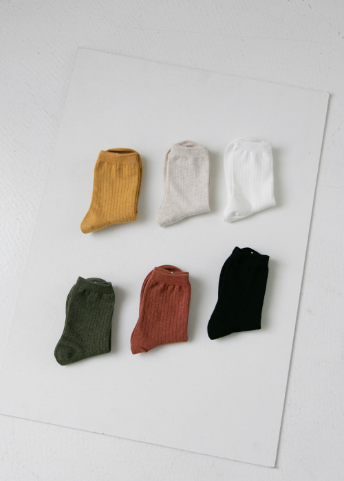 Cotton Color Socks(6color)