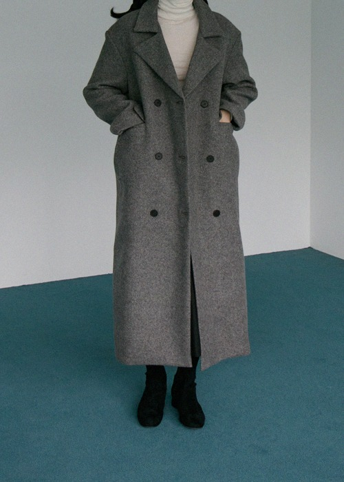 Brown Double Button Coat