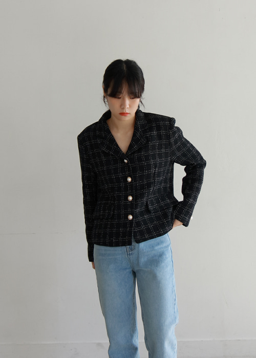 Tweed Check Jacket(2color)