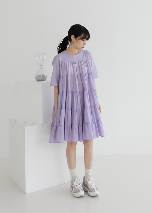 Cotton Tiered Dress(2color)