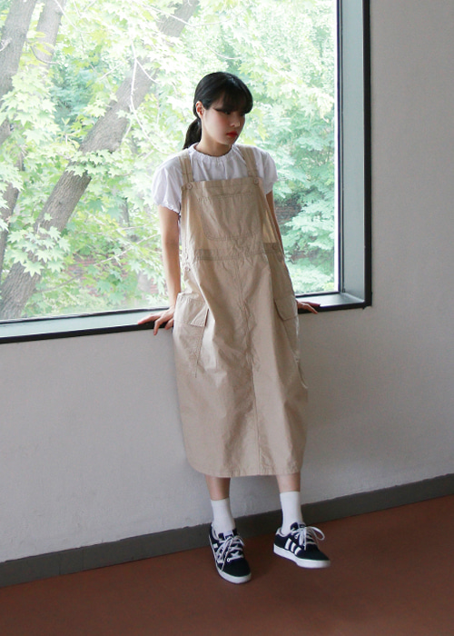 Cargo Overall Dress(3color)