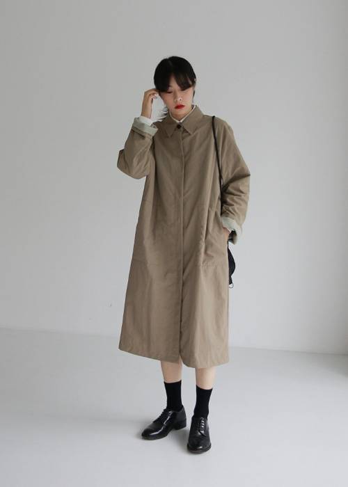 Hidden Button Single Coat(2color)