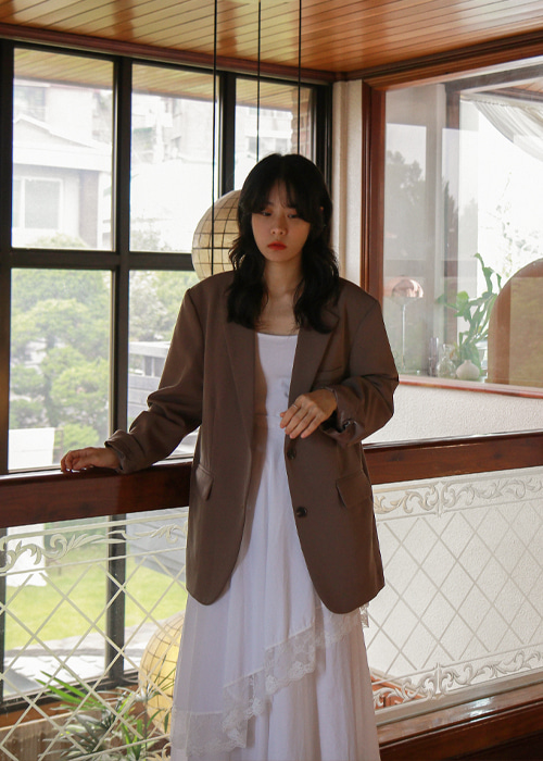 Cocoa Two Button Simple Jacket