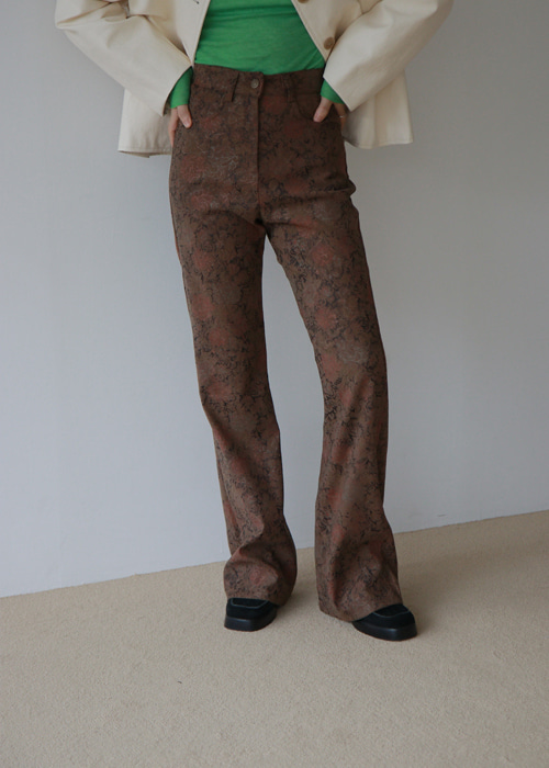 Rose Floral Pants(3color)