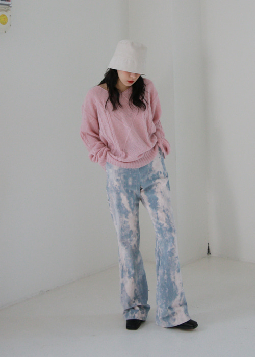 Tie Dye Corduroy Pants(2color)
