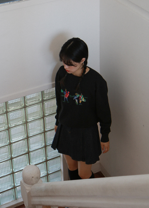 Embroidered Knit Sweater(2color)
