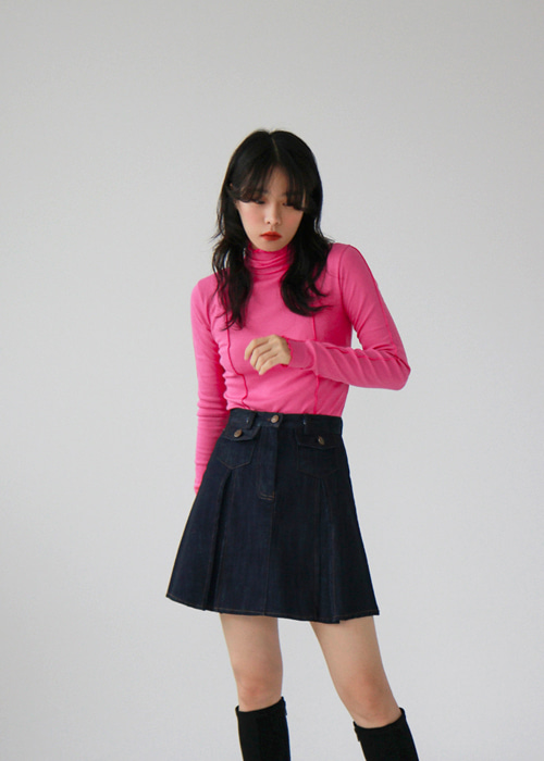 Pintuck Turtleneck Top(6color)