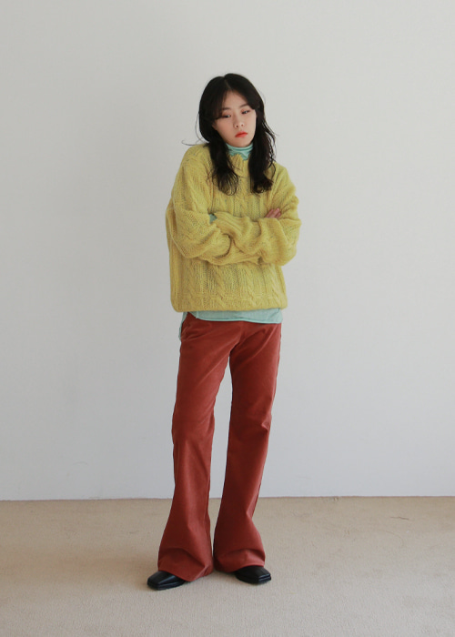 Damaged Cable Knit Sweater(3color)