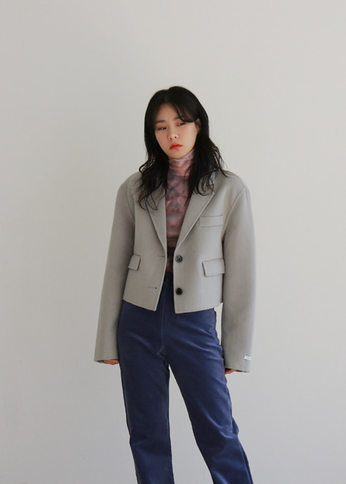 Hand Made Wool Crop Jacket(2color)
