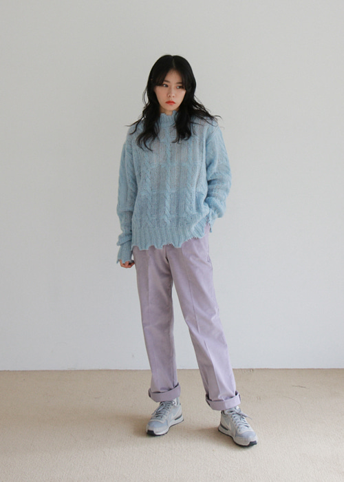 Light Purple Velvet Pants