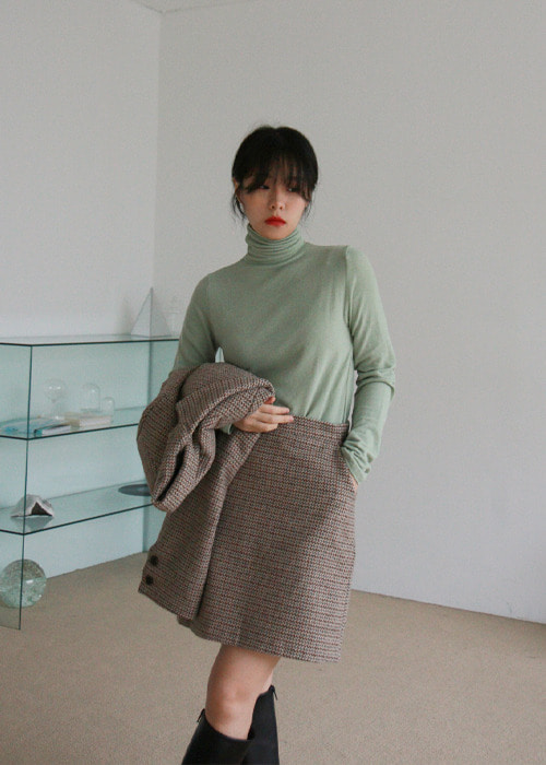 Wool Blend Turtleneck Top(4color)