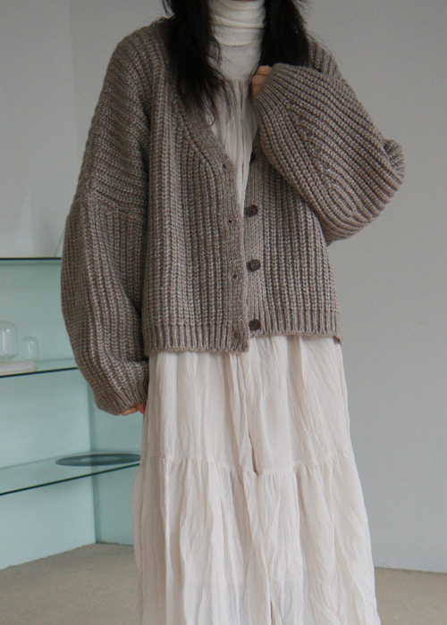Wool Blend Button Front Cardigan(3color)