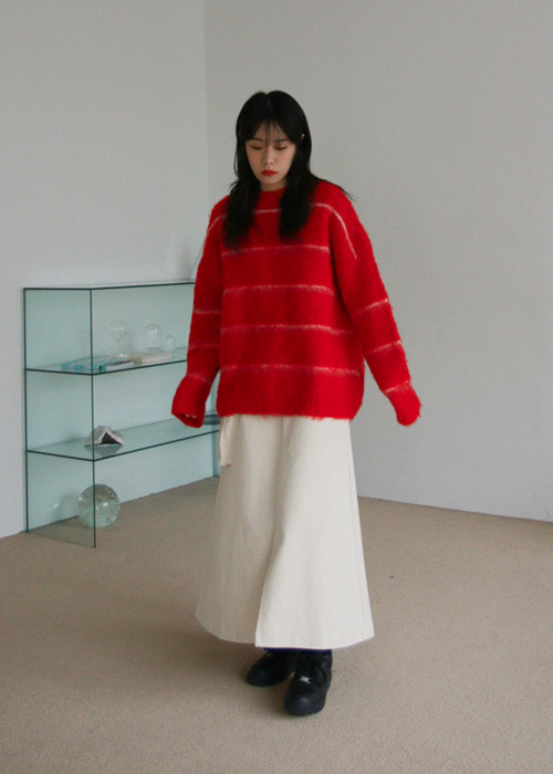Wool Acrylic Blend Pullover Sweater(2color)