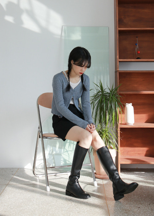 Ribbed Two Button Cardigan(5color)