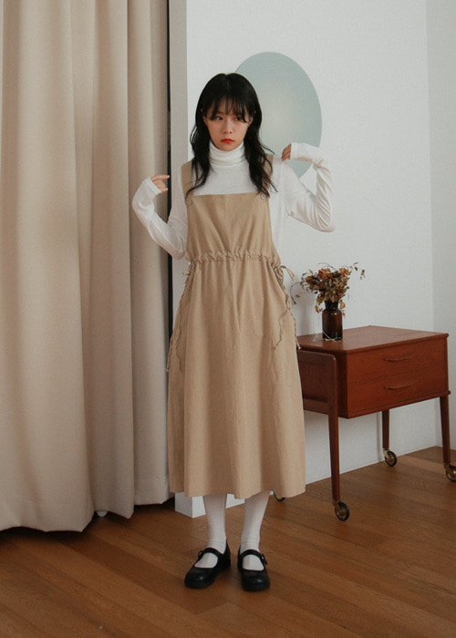 Apron Waist String Dress(2color)