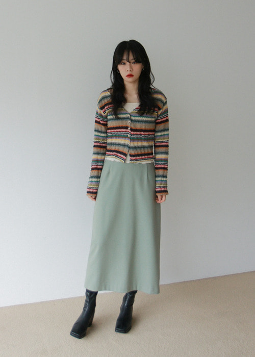 Mixed Stripe Cardigan(2color)
