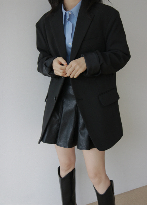 Black Mannish Two Button Jacket