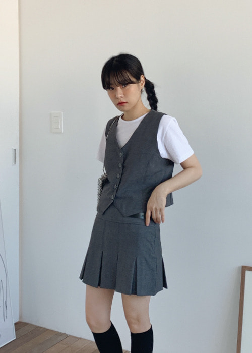 5 Button Vest(2color)