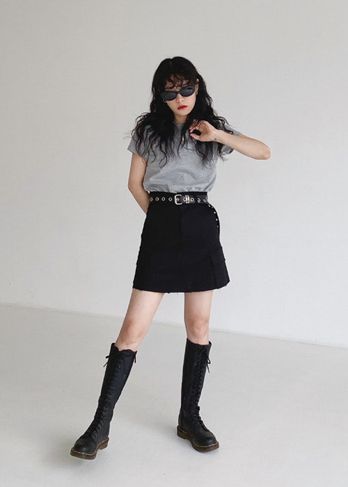 Cargo Pocket Mini Skirt(2color)