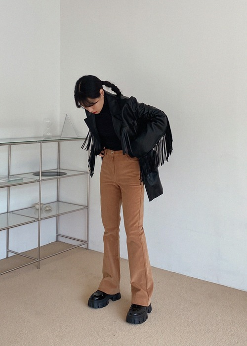 Brown Corduroy Bootcut Pants