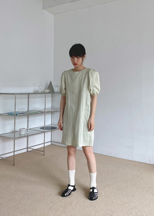 Puff Sleeve Line Dress(3color)